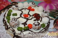 """Фото приготовления рецепта: Новогодний торт """"Рафаэлло"""" - шаг №16"""