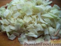 Фото приготовления рецепта: Постный борщ с фасолью и черносливом - шаг №6