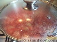 Фото приготовления рецепта: Постный борщ с фасолью и черносливом - шаг №11