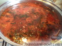 Фото приготовления рецепта: Постный борщ с фасолью и черносливом - шаг №16