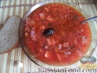 Фото приготовления рецепта: Постный борщ с фасолью и черносливом - шаг №17