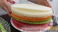 Фото приготовления рецепта: Вафельный торт с конфетами и безе (без выпечки) - шаг №1