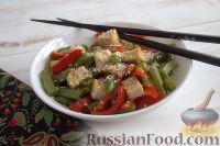 Фото к рецепту: Жареный тофу с овощами