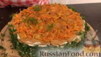Фото приготовления рецепта: Печеночный торт с грибами - шаг №21