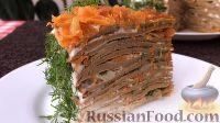 Фото приготовления рецепта: Печеночный торт с грибами - шаг №23