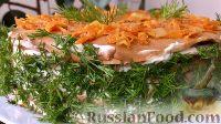 Фото приготовления рецепта: Печеночный торт с грибами - шаг №22
