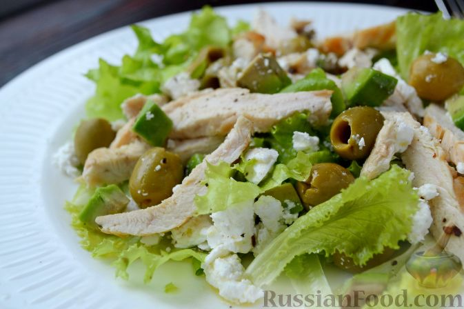 рецепт салата с брынзой и курицей рецепт