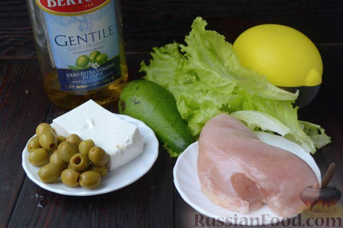 Салат с авокадо и курицей и сыром рецепт