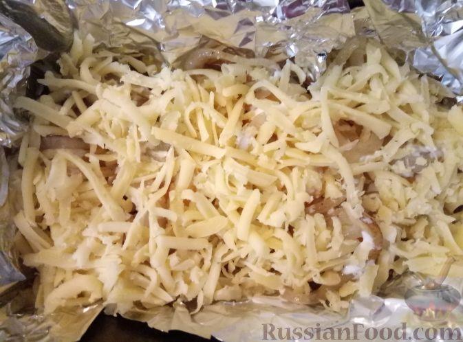 Фото приготовления рецепта: Тыква, запеченная с луком - шаг №11