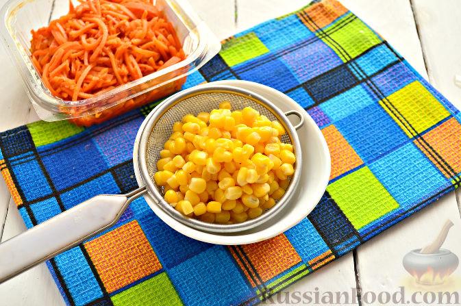фунчеза салат с овощами и курицей по-корейски рецепт с фото