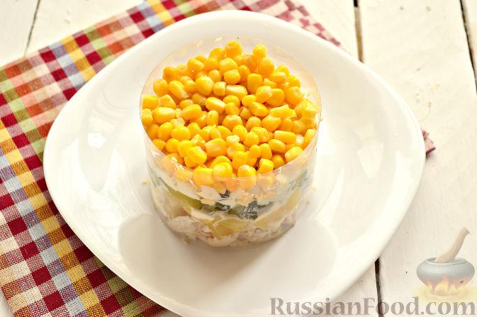 рецепт салата из ананасов кукурузы