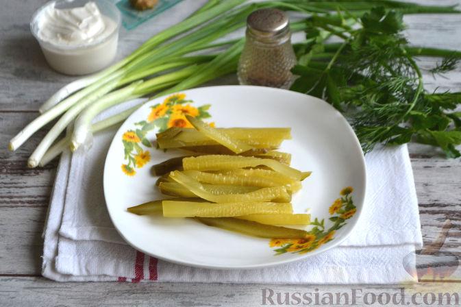 Рецепты салата с ветчиной сыром огурцом