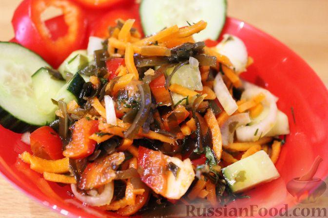 Салат с морской капустой фото рецепт