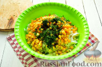 Фото приготовления рецепта: Салат с тунцом и рисом - шаг №6