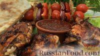 Фото к рецепту: Курица на гриле, с овощами и соусом барбекю