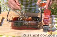 Фото приготовления рецепта: Курица на гриле, с овощами и соусом барбекю - шаг №7