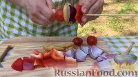 Фото приготовления рецепта: Курица на гриле, с овощами и соусом барбекю - шаг №18