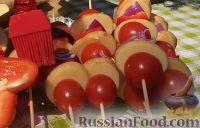 Фото приготовления рецепта: Курица на гриле, с овощами и соусом барбекю - шаг №19