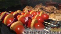 Фото приготовления рецепта: Курица на гриле, с овощами и соусом барбекю - шаг №21