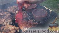 Фото приготовления рецепта: Курица на гриле, с овощами и соусом барбекю - шаг №22