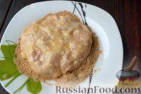 Фото приготовления рецепта: Куриный шницель из фарша - шаг №5