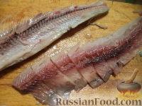 Фото приготовления рецепта: Маринованная сельдь - шаг №3