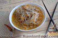 Фото к рецепту: Густой грибной суп с фунчозой