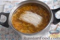 Фото приготовления рецепта: Густой грибной суп с фунчозой - шаг №6