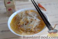 Фото приготовления рецепта: Густой грибной суп с фунчозой - шаг №8