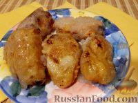 Фото к рецепту: Бананы и яблоки в карамели