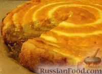 Фото к рецепту: Творожно-тыквенный пирог-суфле