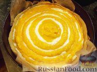 Фото приготовления рецепта: Творожно-тыквенный пирог-суфле - шаг №6