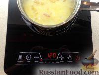 Фото приготовления рецепта: Тыквенный суп-пюре с беконом и сухариками - шаг №7