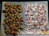 Фото приготовления рецепта: Тыквенный суп-пюре с беконом и сухариками - шаг №6