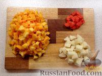 Фото приготовления рецепта: Тыквенный суп-пюре с беконом и сухариками - шаг №2