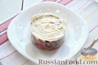 Фото приготовления рецепта: Праздничный винегрет с оливками, сардинами и  майонезом - шаг №6
