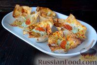 Фото к рецепту: Тарталетки из лаваша с творожным кремом и икрой