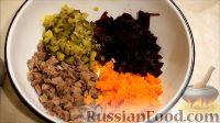 """Фото приготовления рецепта: Салат """"Розочки"""" из блинов со свеклой - шаг №1"""