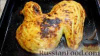 """Фото к рецепту: Картофельная запеканка """"Петушок"""" с фаршем и грибами"""