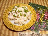 Фото к рецепту: Салат из мяса курицы и ананасов