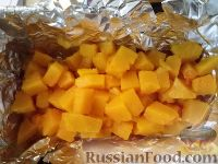 Фото приготовления рецепта: Тыква, запеченная с луком - шаг №7