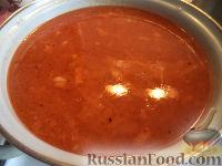 Фото приготовления рецепта: Щи из свежей капусты с рыбой - шаг №13