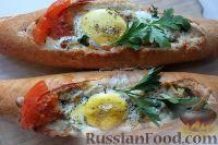 Фото приготовления рецепта: Горячие бутерброды-лодочки - шаг №7