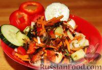 Фото к рецепту: Овощной салат с морской капустой