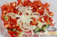 Фото приготовления рецепта: Овощной салат с морской капустой - шаг №4