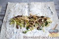 Фото приготовления рецепта: Шаурма с говядиной - шаг №12