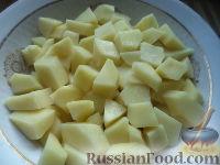 Фото приготовления рецепта: Суп из сушеных грибов с картофелем - шаг №4