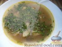 Фото приготовления рецепта: Суп из сушеных грибов с картофелем - шаг №12