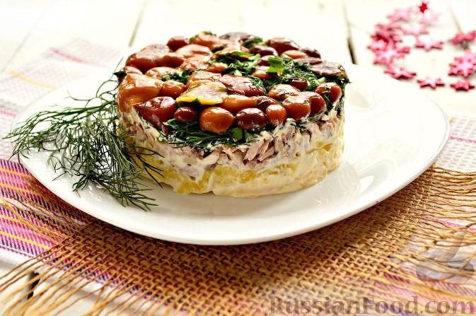 салат поляна рецепт и видео