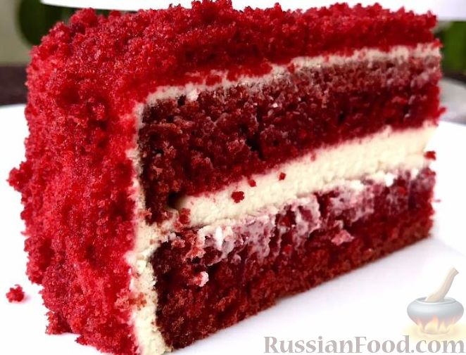 фото рецепт торт красный бархат